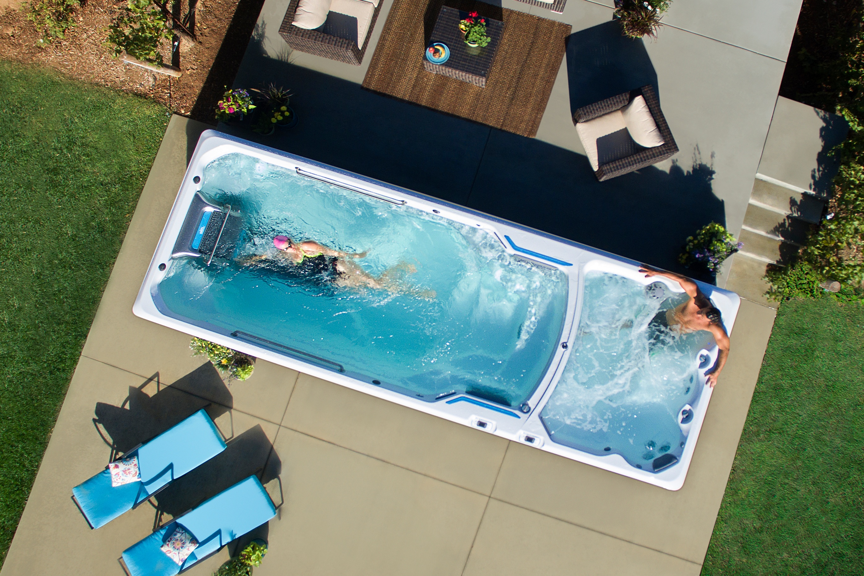 Spa In Swimming Pool: Swim Spa Fitness Systems